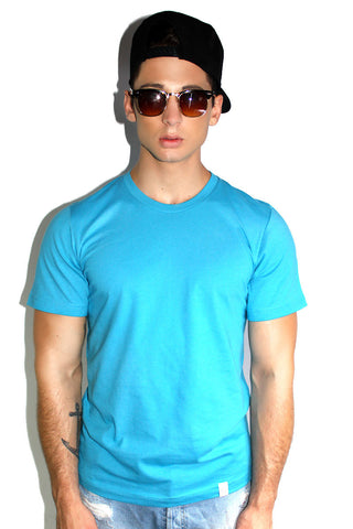 Core Crewneck Tee-Blue