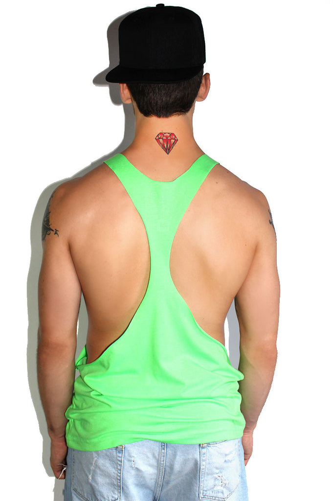 Core String Tank-Neon Green