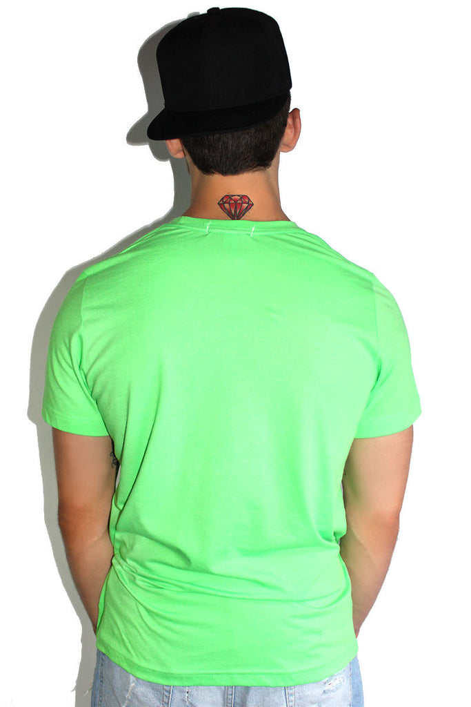 Core Crewneck Tee-Neon Green