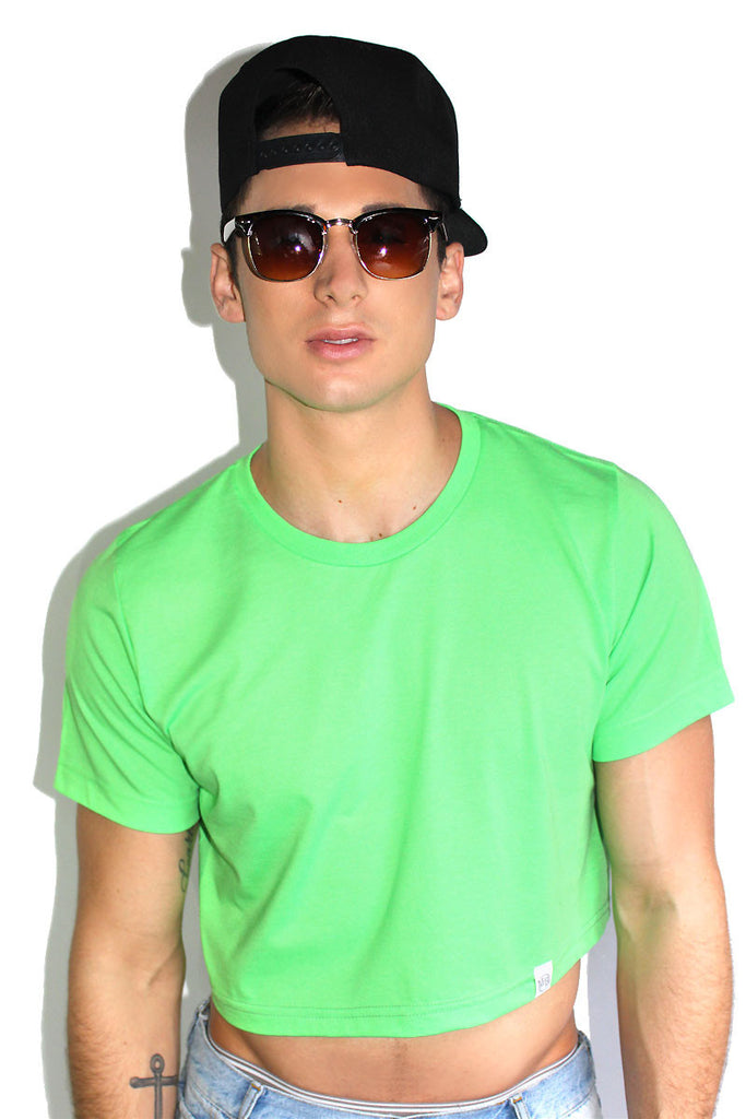 Core Crop Tee-Neon Green