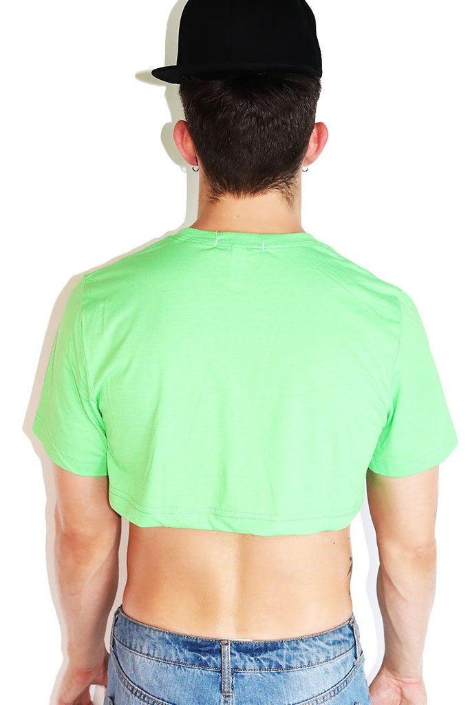 Core Extreme Crop Tee-Neon Green