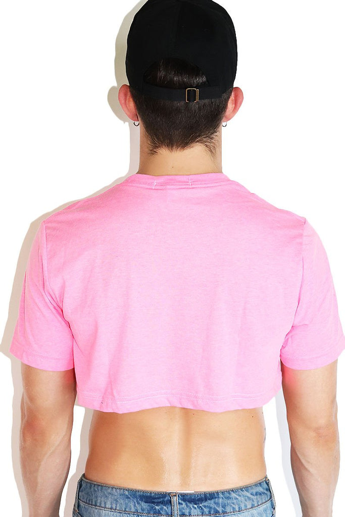 Core Extreme Crop Tee- Neon Pink