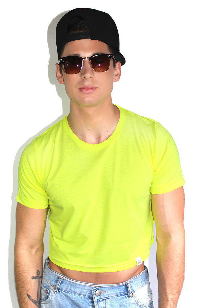 Core Crop Tee-Neon Yellow