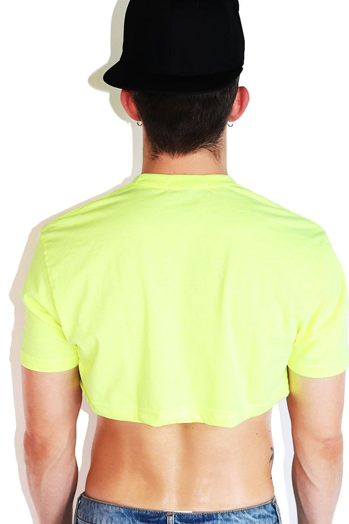 Core Extreme Crop Tee-Neon Yellow