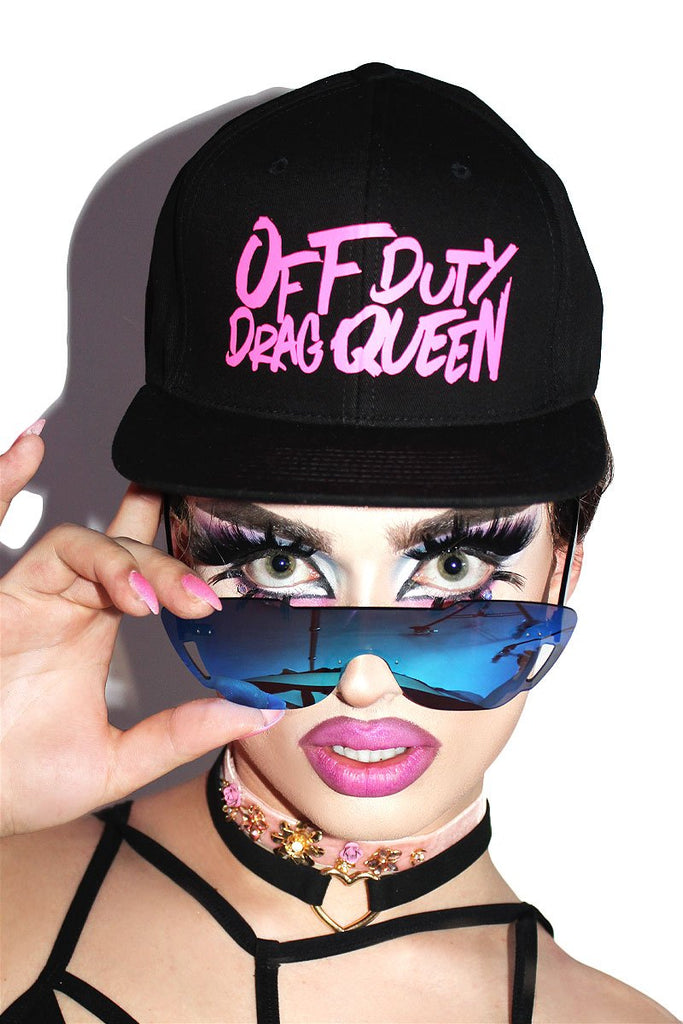 Off Duty Drag Queen Snap Back Hat-Black