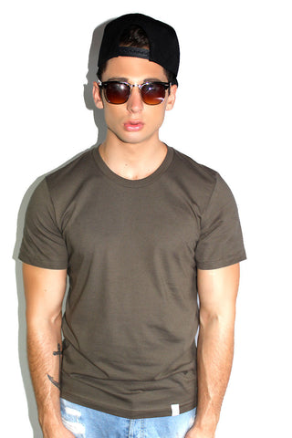 Core Crewneck Tee-Army Green