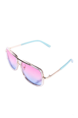 Extra AF Squared Ombre Aviator Sunglasses-Pink