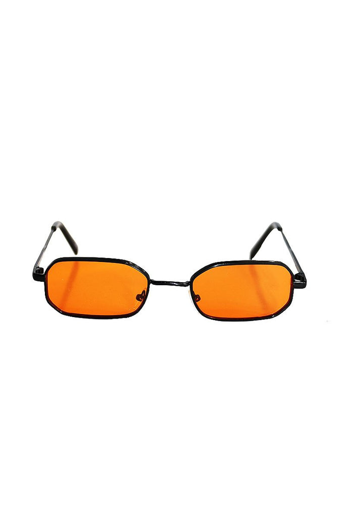 Groupie Square Sunglasses-Orange
