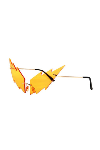 Bolt Frameless Sunglasses- Orange