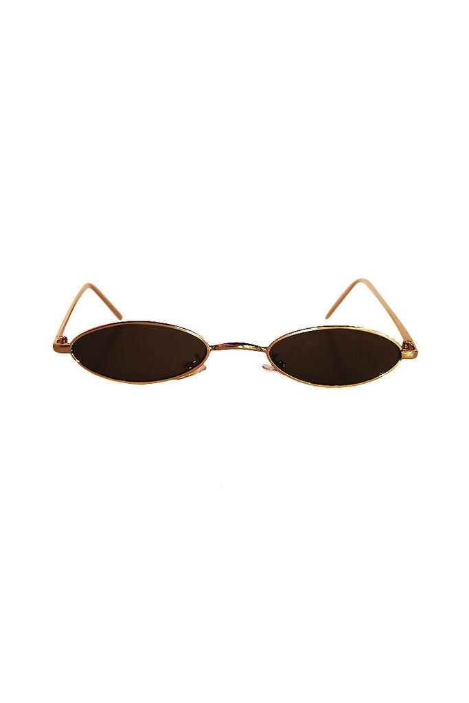 Oval Peepers Sunglasses- Black