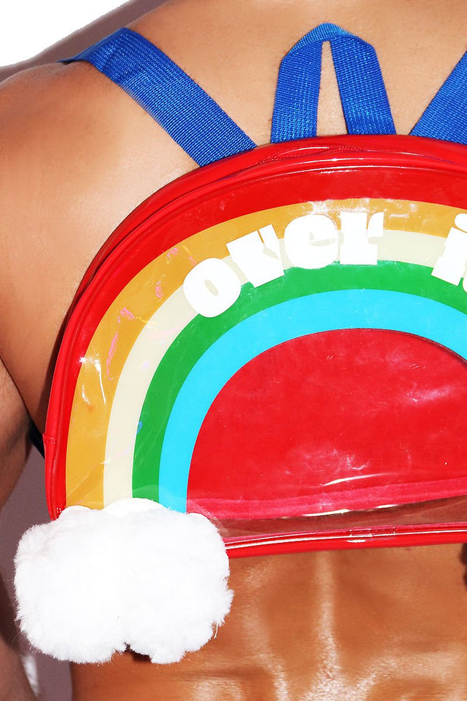 Over it Rainbow Backpack- Red