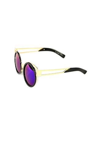 Boston Gold Oversized Cat Eye Sunglasses- Black