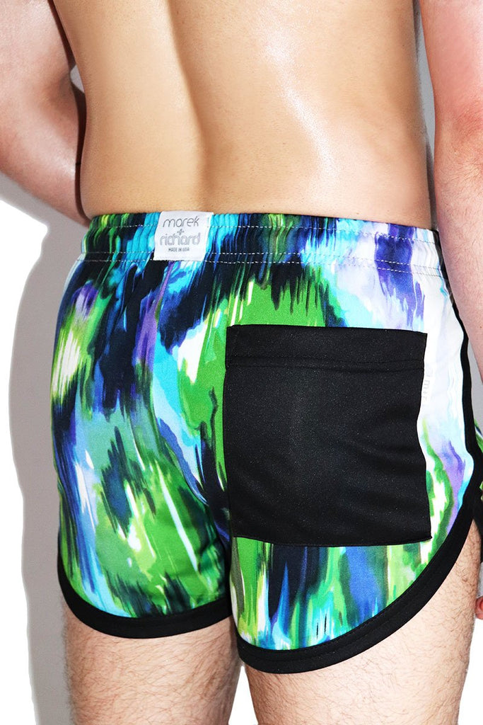 River Delta Running Shorts-Blue