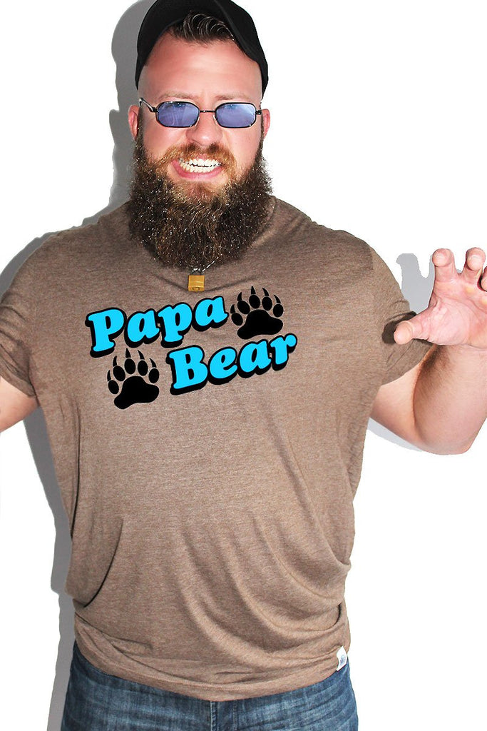 PLUS: Papa Bear Tee- Brown