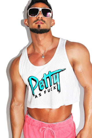 Dead cherries Crop Racerback Tank-Black