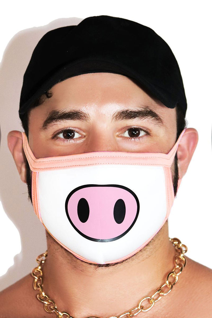 Pig Face Mask-White