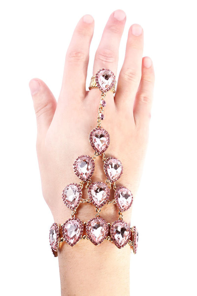 Diamond Gem Stones Gauntlet-Pink