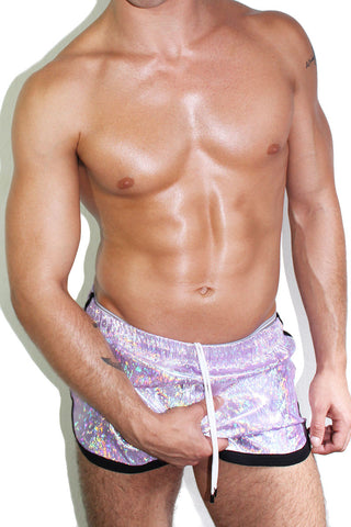 Iridescent Running Shorts- Purple