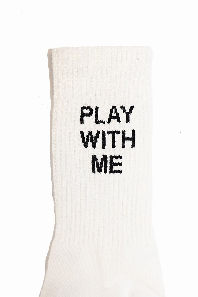 Play with Me Socks- White