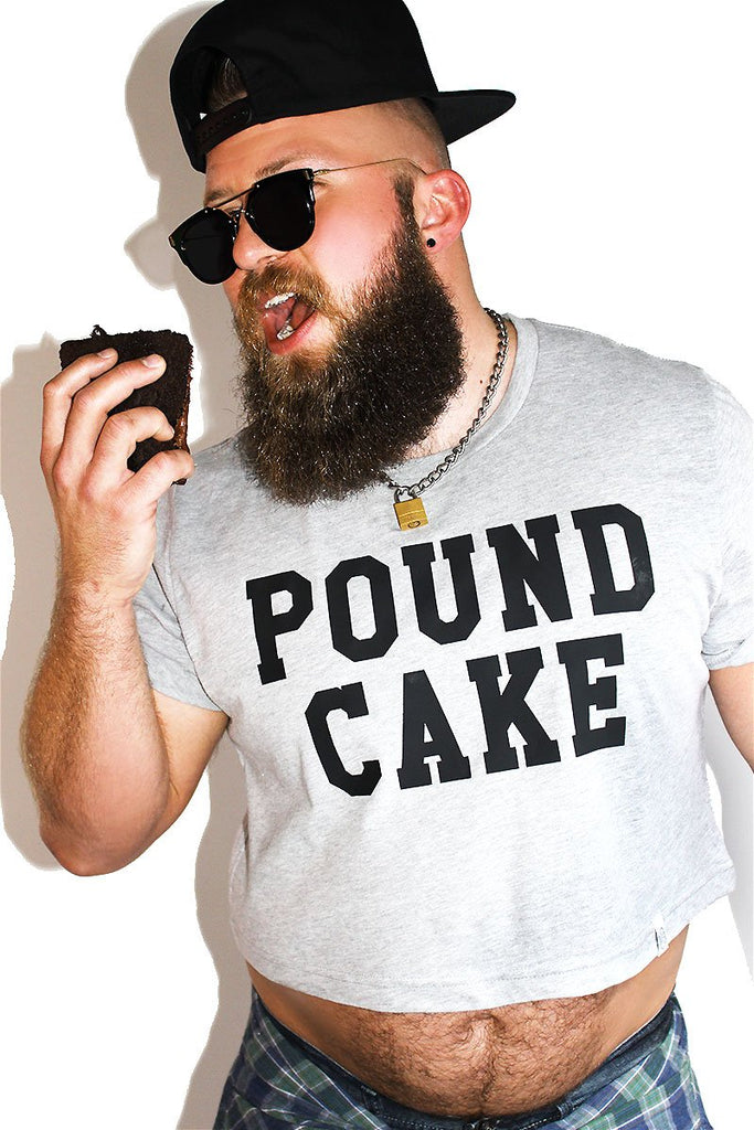 PLUS: Pound Cake Crop Tee- Grey