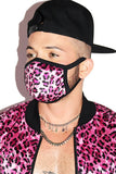 Cougar Cheetah Face Mask- Pink