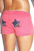 Star Power Vintage Lounge Short- Red