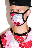 Honolulu Pink Face Mask- Black