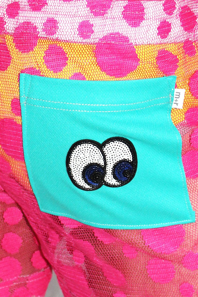 Eyes On You Mesh Althetic Shorts- Pink