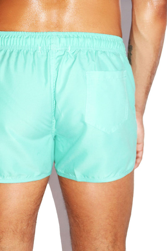 Prick Me Cactus Board Shorts-Mint