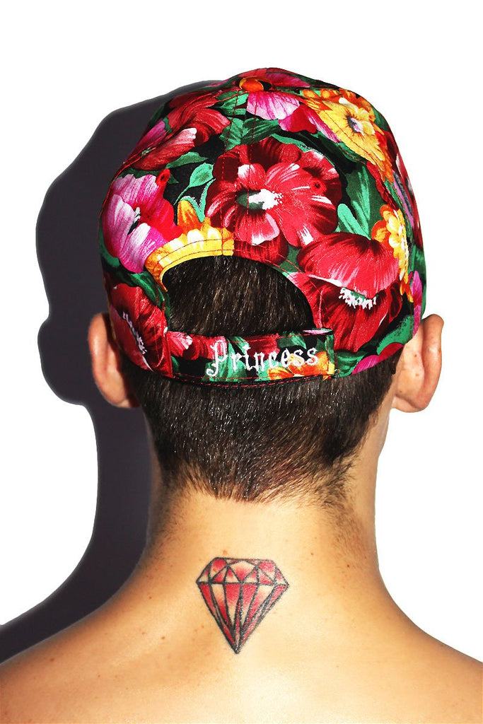 Princess Floral Dad Hat-Red
