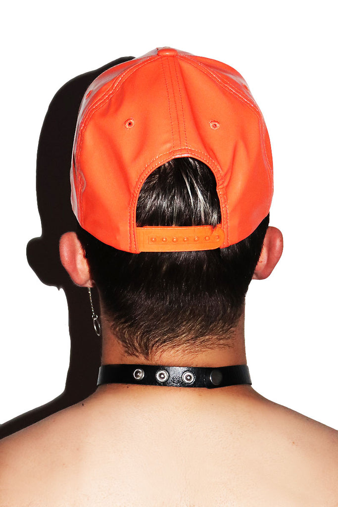 Evil Pumpkin Snapback Hat- Orange
