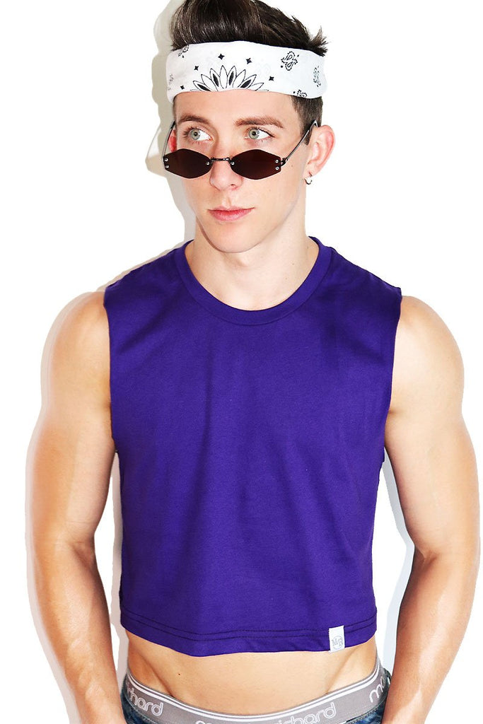 Core Crop Tank-Purple