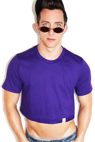 Core Crop Tee-Purple