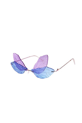 Fairy Frameless Sunglasses- Purple
