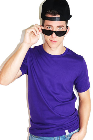 Core Crewneck Tee-Purple
