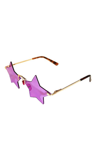 Star Frameless Sunglasses-Purple