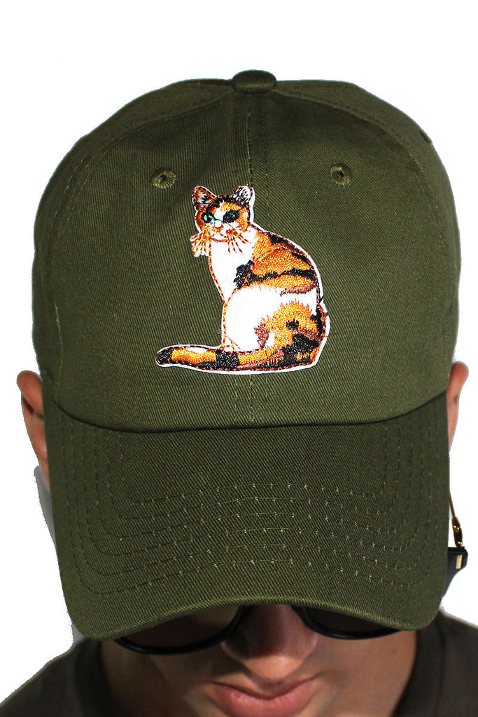 Pussy Cat Dad Hat-Olive