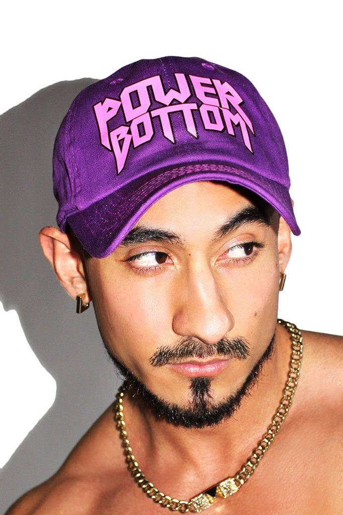 Power Bottom Dad Hat-Purple