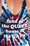 Land Of The Queer String Tank- Blue