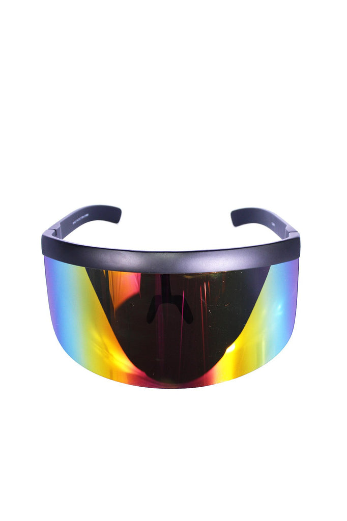 Mono Face Shield Sunglasses- Rainbow