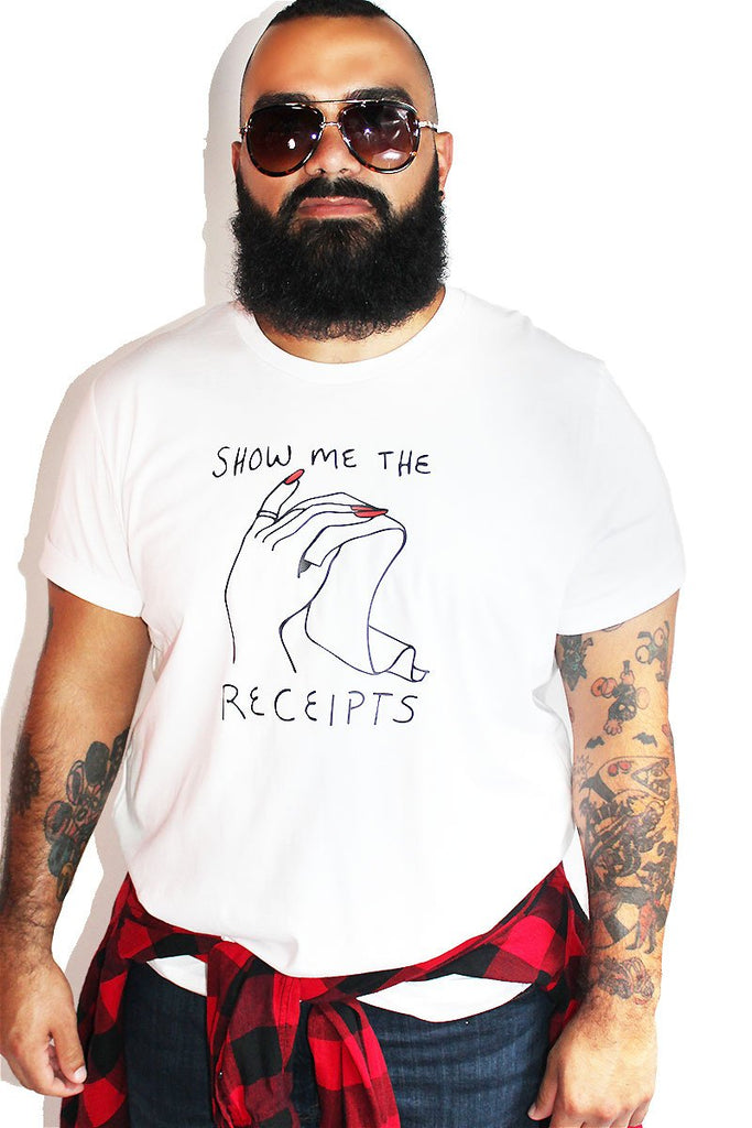 PLUS: Show Me The Receipts Tee- White