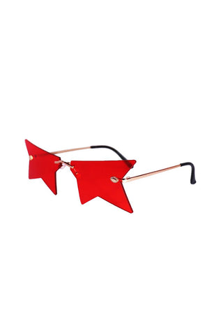 Infamous Star Sunglasses- Red