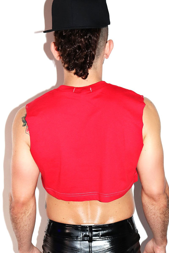 Core Extreme Crop Tank-Red