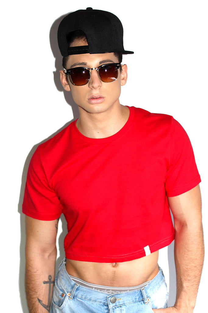 Core Crop Tee-Red