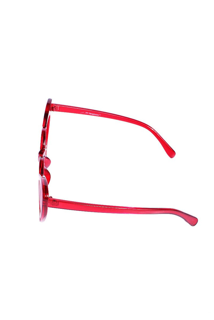 Heart Cat Eye Sunglasses-Red