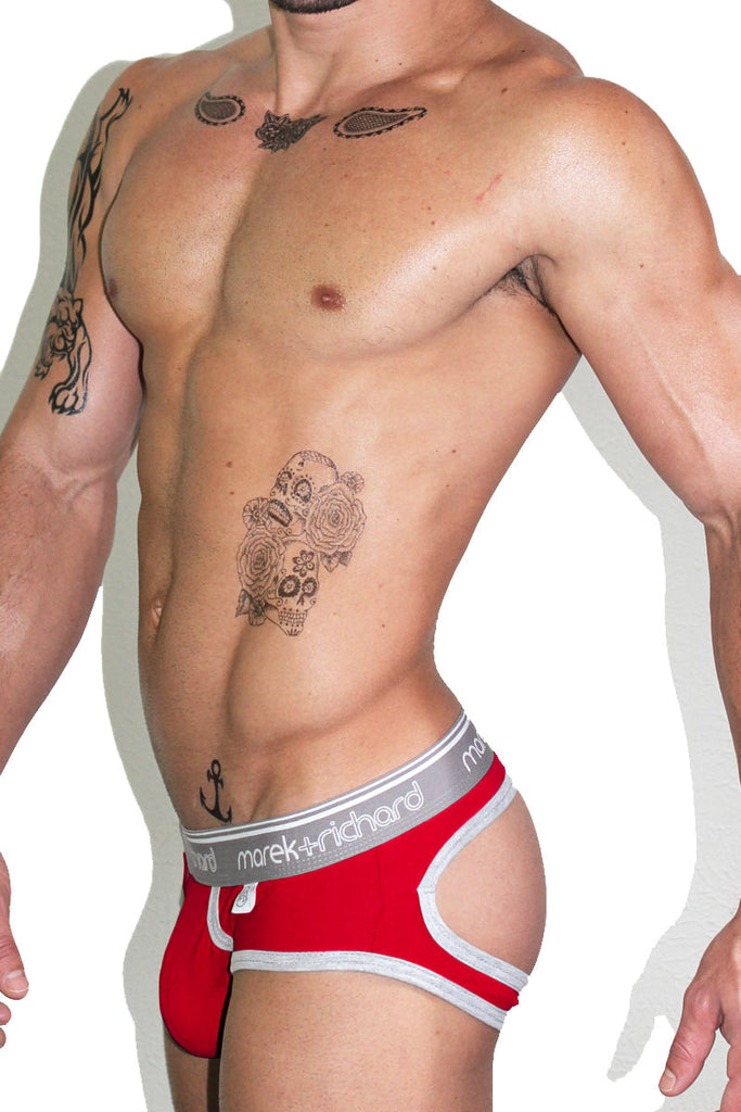 Core Open Back Brief-Red