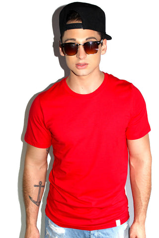 Core Crewneck Tee-Red