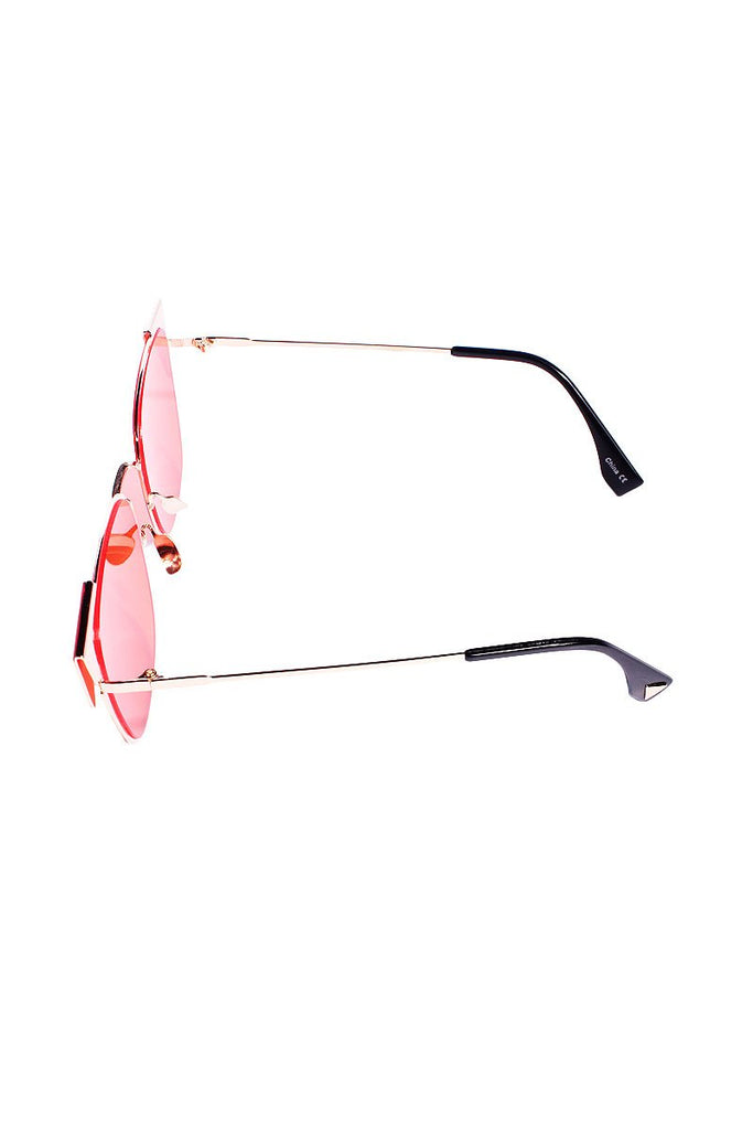 Triangle Tip Lexington Sunglasses-Red