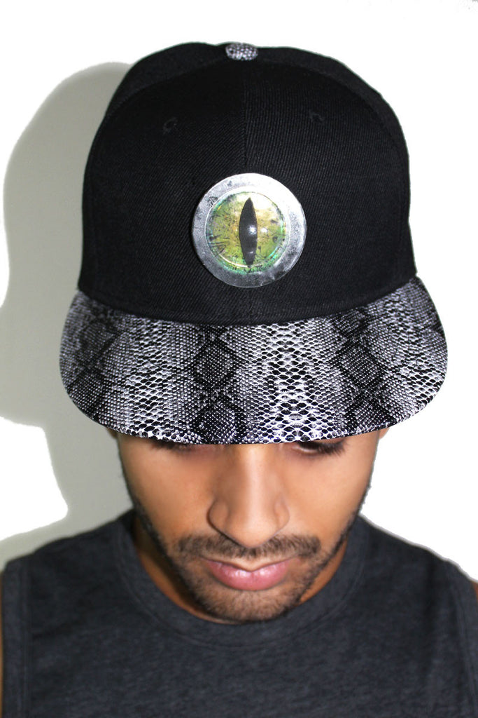 Reptile Snap Back Hat-Black