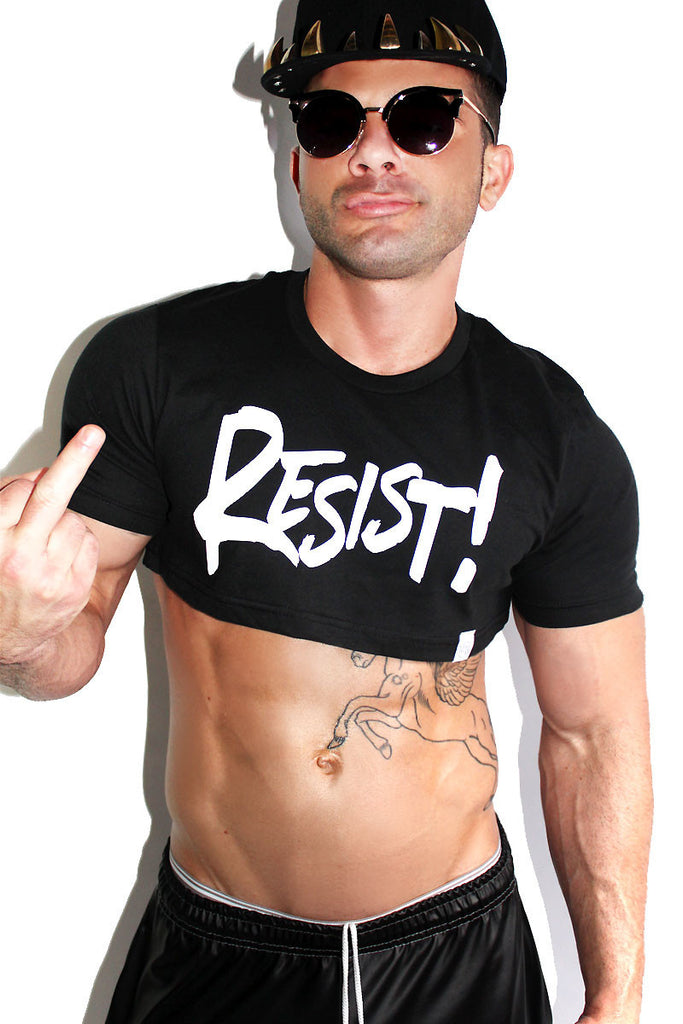Resist Extreme Crop Tee-Black